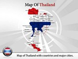 Map of Thailand Powerpoint Template