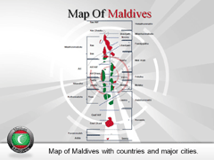 Maldives PowerPoint map