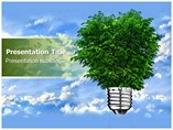 Technology Powerpoint Background     - Green Energy