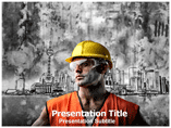 Man in Protective Suit Powerpoint Template