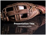 Baseball Glove Image Powerpoint Template