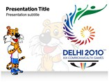 2010 Common Wealth Games Powerpoint Template