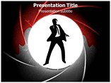James Bond Silhouette Template PowerPoint