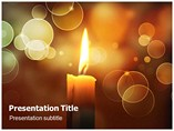 Candles Holders Powerpoint Templates