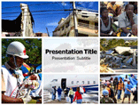 Haiti Earthquake Pictures Powerpoint Template