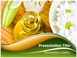 Oil And Flower Powerpoint Template