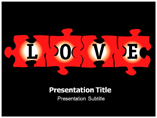Free Love Puzzle Powerpoint Template