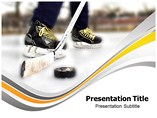 Ice Hockey Equipment Powerpoint Template