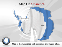 Antarctica PowerPoint map