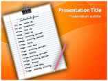 Form Schedule Powerpoint Template
