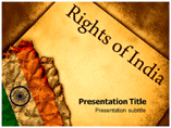 Rights Of India Powerpoint Template