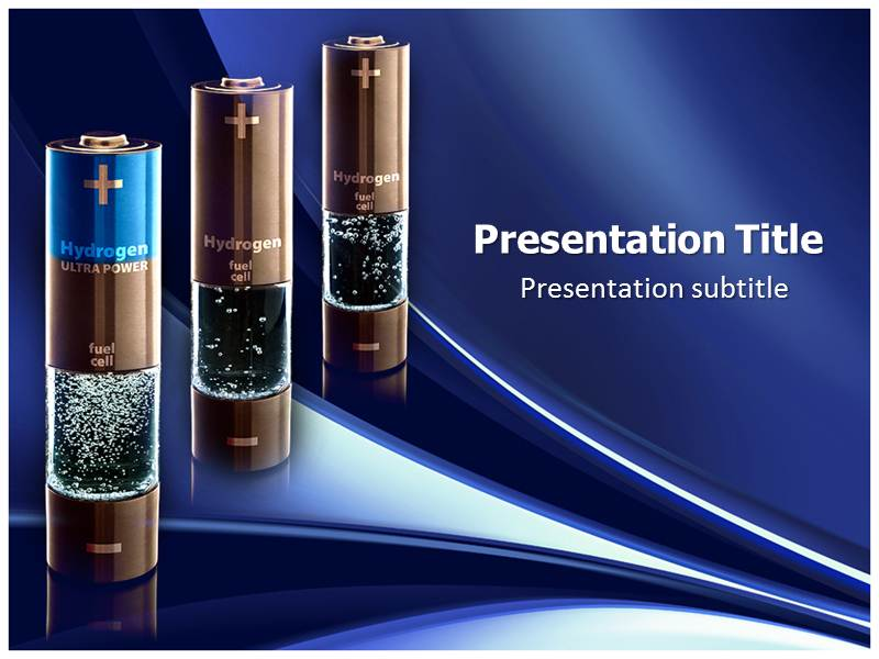 Hydrogen Batteries Powerpoint Template