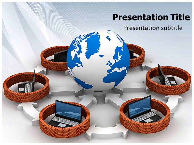 Internet Security Firewall Powerpoint Template