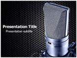 Recording Mic Powerpoint Template