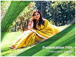 Saree Model Powerpoint Template