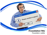 Online Support Powerpoint Template