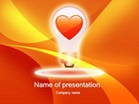 Glowing Heart PPT Template Slides