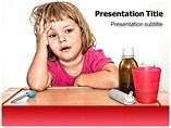 Sick Child Powerpoint Template