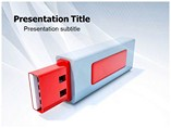 Pen drive powerpoint template