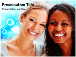 African American Woman Powerpoint Template