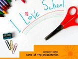 education powerpoint templates - I Love School