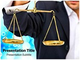 Scales Of Justice Powerpoint Template