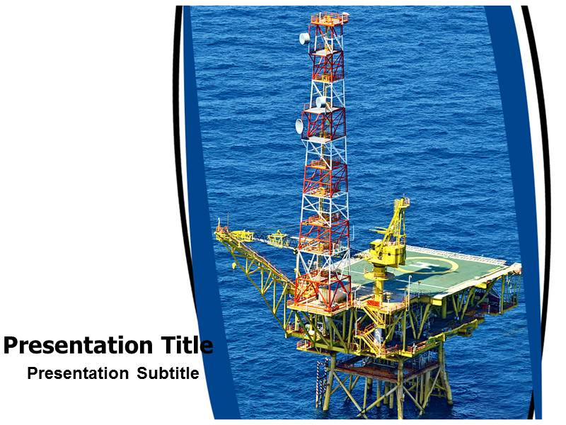 Oil Rig Powerpoint (PPT) Template | Oil Machine Powerpoint Template