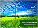 Wind Power Farm Cost Powerpoint Templates