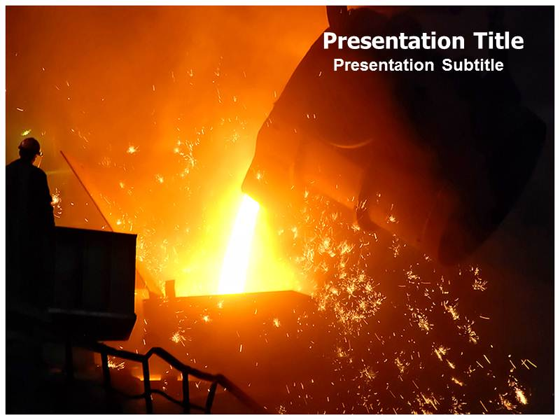 Steel Melting Powerpoint Templates
