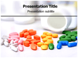 Colorful Medicine Pills Powerpoint Templates