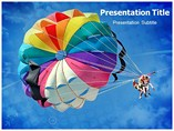 Powerpoint Template on Parachute