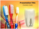 Powerpoint Template on Toothbrush