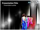 Powerpoint Template Fashion Show Catwalk