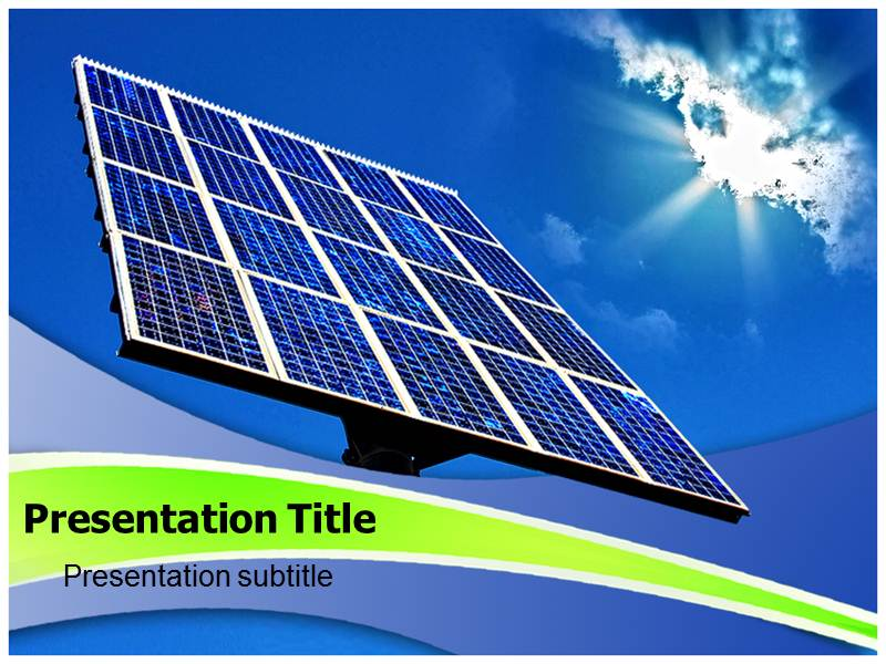 Powerpoint Template forSolar Energy Advantage