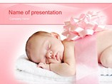 Sleeping Innocence PowerPoint Template