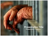 Prison Bars Powerpoint Template