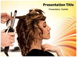 Hair Stylist Saloon Powerpoint Templates