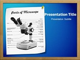 Parts Of Microscope Powerpoint Template