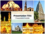 Tourism History In India Powerpoint Template
