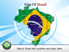 Extended  Brazil PowerPoint map