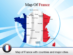 Detailed  Of France PowerPoint map