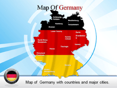 Detailed Germany Country map