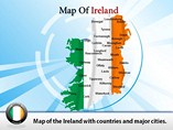 Ireland Country Map Powerpoint Map Template