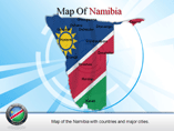 Map of Namibia Provinces Powerpoint Map Template