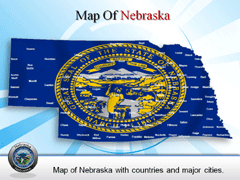 Extended  Of Nebraska PowerPoint map