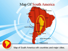 Extended  Of South America PowerPoint map