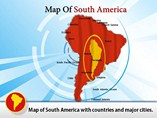 South America map template