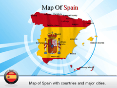 Detailed  Of Spain PowerPoint map