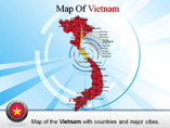 Map of Vietnam Provinces Powerpoint Map Template