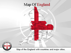 England PowerPoint map